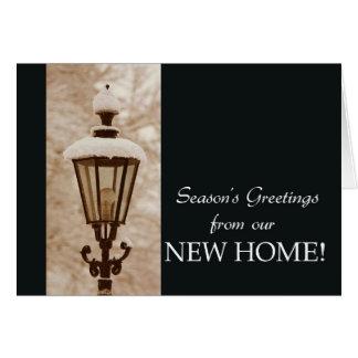 Bonnes Fêtes de notre nouvelle maison Carte De Vœux