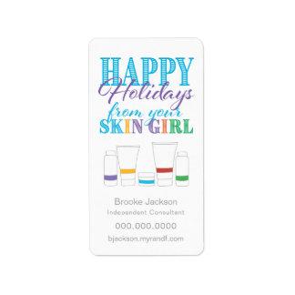 Bonnes fêtes de votre fille de peau - étiquette
