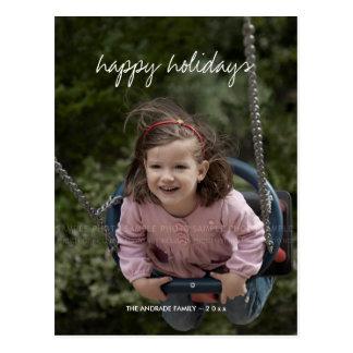 Bonnes fêtes enfants de coutume de vacances de cartes postales