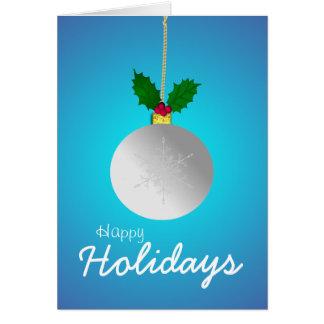 Bonnes fêtes, laissez-le neiger carte de vœux