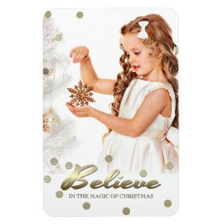 Bonnes fêtes. Magnet de photo de cadeau de Noël