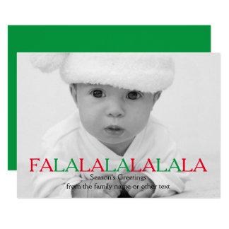Bonnes fêtes modèle photo de La de La de La de La Carton D'invitation 12,7 Cm X 17,78 Cm