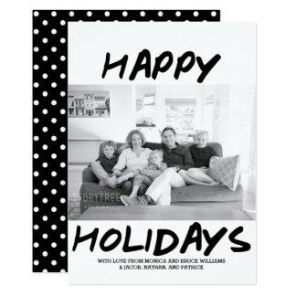 Bonnes fêtes noir à la mode du carte photo |