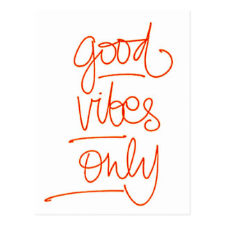 Bonnes Vibrations - Good Vibes Carte Postale