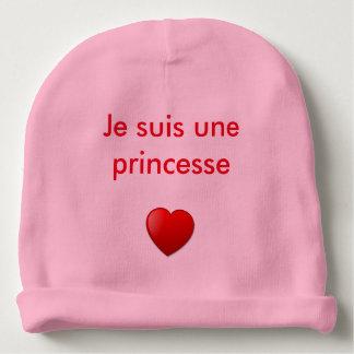 """Bonnet bébé fille """" Je suis une princesse"""" Bonnet De Bébé"""