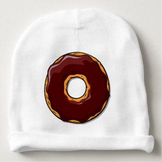 Bonnet De Bébé 1 conception de beignet de chocolat de bande