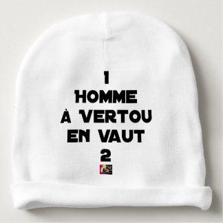 Bonnet De Bébé 1 HOMME À VERTOU EN VAUT 2 - Jeux de mots