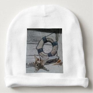 Bonnet De Bébé Accueil à bord de calotte de coton de bébé