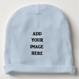Bonnet De Bébé Ajoutez votre calotte de bébé bleu d'image ici