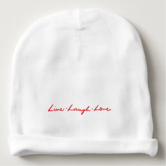 Bonnet De Bébé Amour vivant de rire marqué avec des lettres par