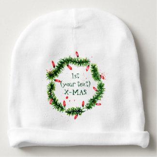 Bonnet De Bébé Aquarelles de Joyeux Noël