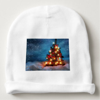 Bonnet De Bébé Arbre de Noël - décorations de Noël - flocons de
