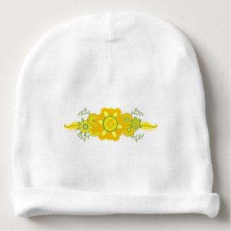 Bonnet De Bébé Assez le jaune fleurit la pièce maîtresse