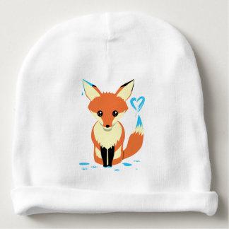 Bonnet De Bébé Bébé de Fox peignant le coeur bleu avec la queue