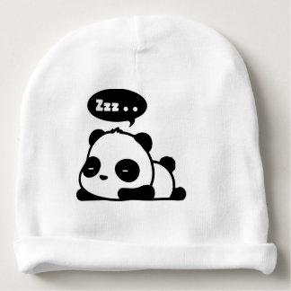 Bonnet De Bébé beenie de coton de bébé avec le panda somnolent de