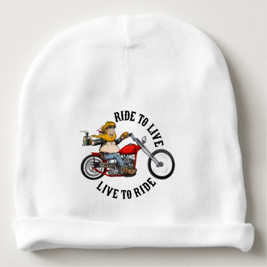 Bonnet De Bébé biker motard ride to live