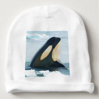 Bonnet De Bébé Bleu de Spyhop de baleine d'orque