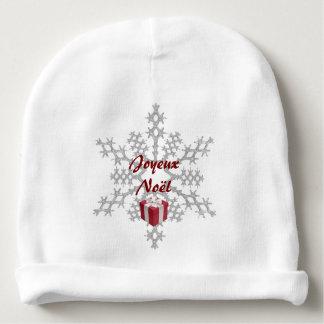 Bonnet De Bébé Bonnet blanc bébé Joyeux Noël