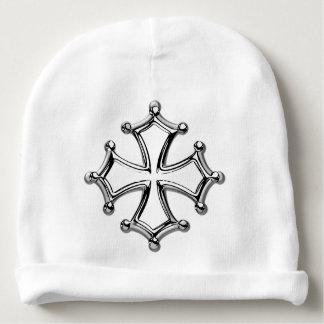 Bonnet De Bébé Bonnet de naissance blanc Croix occitane