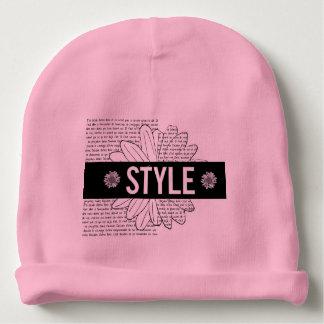 """Bonnet De Bébé Bonnet de naissance rose """"Style"""""""