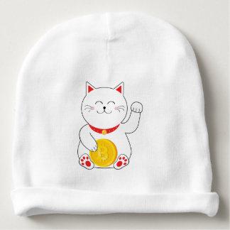 Bonnet De Bébé Calotte chanceuse de bébé de Bitcoin de chat de