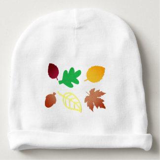 Bonnet De Bébé Calotte de bébé avec le feuille coloré