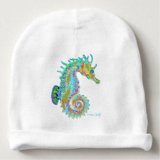 Bonnet De Bébé Calotte de bébé d'hippocampe