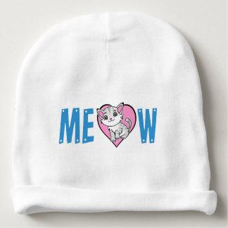 Bonnet De Bébé Calotte de coton de bébé de Meow