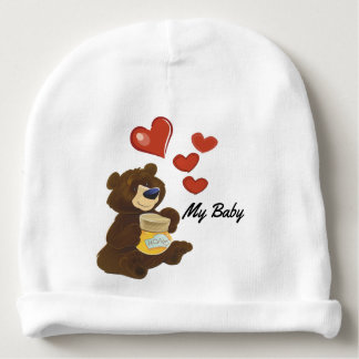 Bonnet De Bébé Calotte de coton d'ours de nounours de bébé