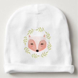 Bonnet De Bébé Calotte faite face rusée de coton de bébé