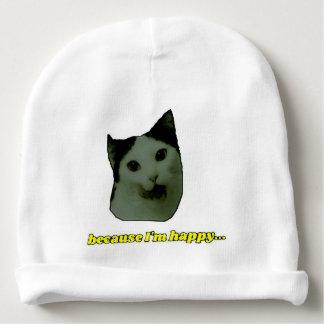 Bonnet De Bébé Calotte heureuse de bébé de visage de chat