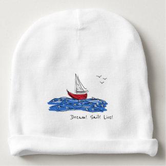 Bonnet De Bébé Calotte vivante de bébé de mouettes de bateau de
