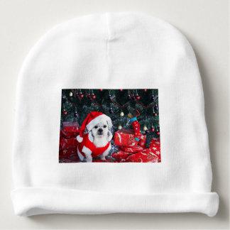 Bonnet De Bébé Caniche père Noël - chien de Noël - chien du père