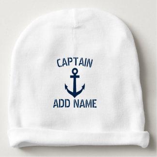 Bonnet De Bébé Capitaine nautique fait sur commande de bateau