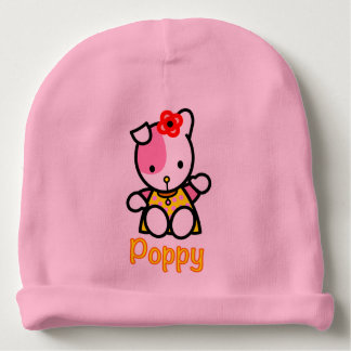 Bonnet De Bébé Casquette de calotte de coton de bébé de pavot