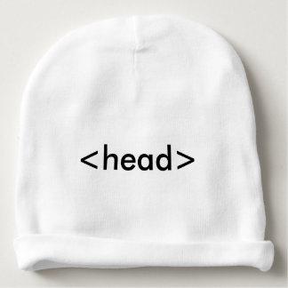 Bonnet De Bébé Casquette de tête de geek de HTML de programmeur