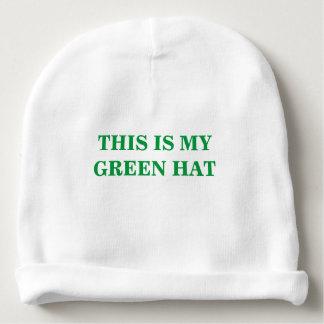 Bonnet De Bébé C'est mon casquette vert pour le jour de St