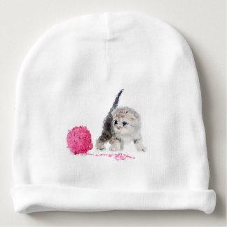 Bonnet De Bébé Chaton drôle adorable mignon low poly