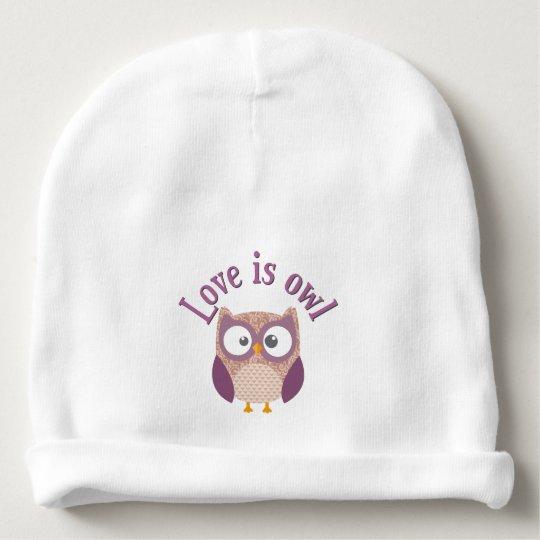 """Bonnet De Bébé Collection """"Love is owl"""""""