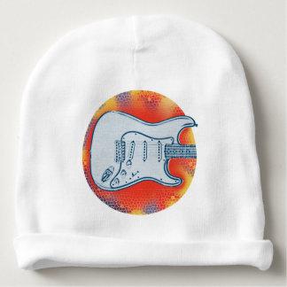 Bonnet De Bébé Conception rouge et bleue de guitare