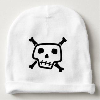 Bonnet De Bébé Crâne et calotte de bébé d'os croisés