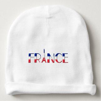 Bonnet De Bébé Drapeau de la France avec Tour Eiffel bleu, rouge,