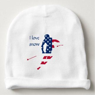 Bonnet De Bébé Drapeau des Etats-Unis d'Américain de ski de