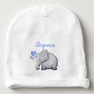 Bonnet De Bébé Éléphants bleus magnifiques personnalisés de