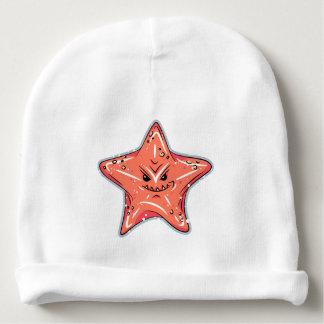 Bonnet De Bébé Étoiles de mer rouges drôles avec un sourire