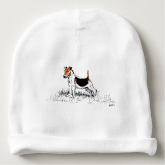 Bonnet De Bébé Fox Terrier se tenant fier