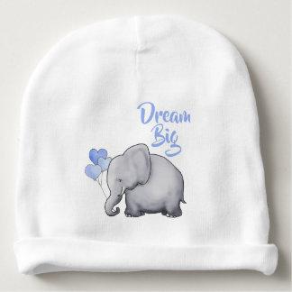 Bonnet De Bébé Grand éléphant mignon inspiré rêveur personnalisé