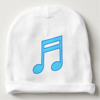 Bonnet De Bébé Grande note musicale bleue