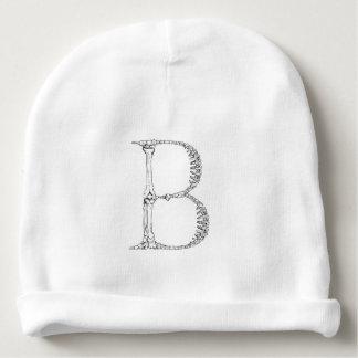 Bonnet De Bébé Initiale d'os de la lettre B