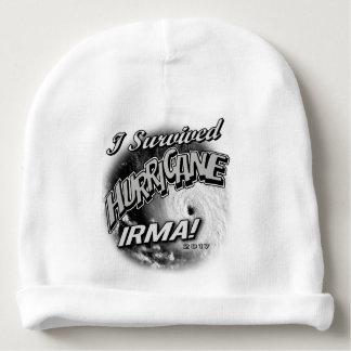Bonnet De Bébé J'ai survécu à la calotte de bébé d'Irma d'ouragan